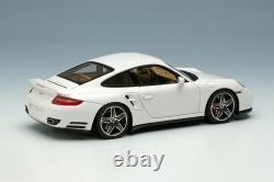 Make Up VISION 1/43 VM190C Porsche 911 997 Turbo 2006 White / Chrome Wheels New