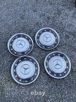 Mercedes Benz OEM Vintage 14 Wheel Cover Hub Caps Hubcap White 70s 80s