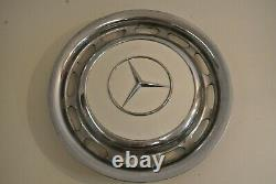 Mercedes Benz OEM Vintage 15 Wheel Cover Hub Caps Hubcap Eggshell 70s 80s