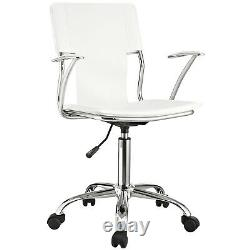 Modway Studio Faux Leather Swivel Task Office Chair in White