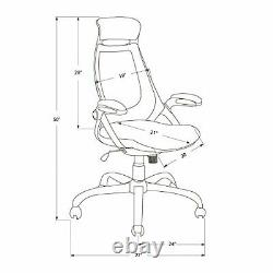 Monarch Specialties Mesh/Chrome High-Back Executive Office Chair White/Grey