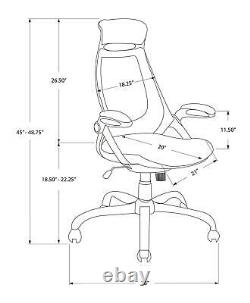 Monarch Specialties Office Chair White/Gray