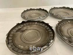Monte Carlo Impala Hubcaps 1970 White 15 Wheel Covers Set of Four Chevy