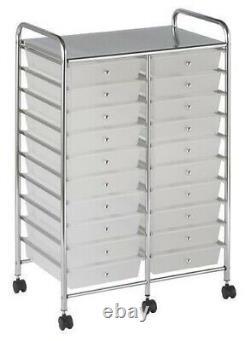 NEW Rolling Storage Organization 20 Shelves Plastic Drawers Wheeled Craft Cart