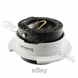 NRG Black/White Ball Lock 6-Hole Steering Wheel Gen 2.5 Quick Release Adapter