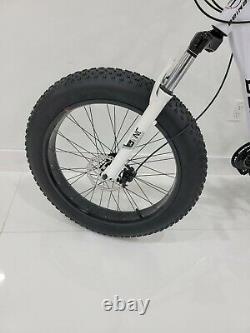 New 24 Bike Bicycle WHITE AND SPOKE WHEEL