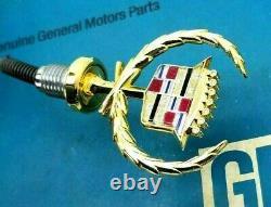 New 79 85 Cadillac Eldorado 24k Gold Hood Ornament Nos Emblem Seville Oe Gm Trim