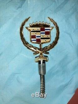 New 80 92 Cadillac 24k Gold Fleetwood Brougham Hood Ornament Emblem Molding Trim