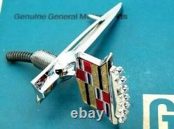 New 82 83 84 Cadillac Deville Coupe Sedan Hood Ornament Header Panel Nos Emblem