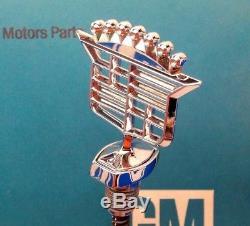 Nos 1977 Cadillac Coupe & Sedan Deville Hood Ornament 77 Emblem Gm Wire Wheels