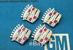 Nos 63 73 Cadillac Hubcap Crest Wheel Cover DL Auld Emblem Set Hub Cap Gm Trim