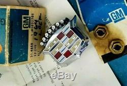 Nos 64 68 Cadillac Trunk Lock Cover Emblem Flip LID Crest Deck 3632708 Gm Trim