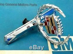 Nos 71 72 Cadillac Eldorado Hood Ornament Emblem Real Oem Gm Convertible Trim