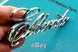 Nos 72 73 74 75 Cadillac Eldorado Trunk Script Emblem Real Oem Gm Trim