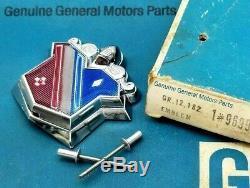Nos 73 74 75 76 Buick Electra Trunk Lock Cover Emblem Gm Tri Shield Crest Trim