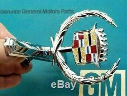 Nos 73 78 Cadillac Eldorado Hood Ornament Emblem 74 75 76 77 Real Oem Gm Trim