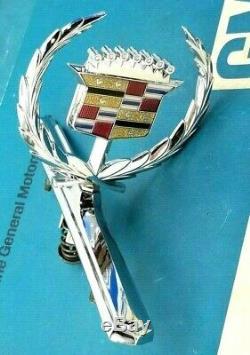 Nos 73 78 Cadillac Eldorado Hood Ornament Emblem Real 74 75 76 77 Oem Gm Trim