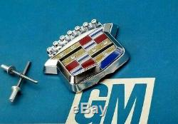 Nos 77 78 79 Cadillac Deville Fleetwood Trunk Lock Cover Crest Emblem LID Flip