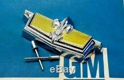 Nos 77 90 Chevy Caprice Classic Trunk Lock Cover Emblem Flip Deck LID Gm Trim