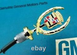 Nos 79 85 Cadillac Eldorado 24k Gold Hood Ornament Emblem Oem Gm Trim