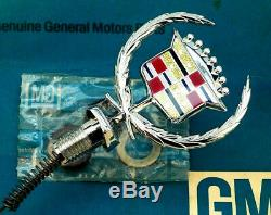 Nos 80 92 Cadillac Fleetwood Brougham Hood Ornament Header Panel Emblem Gm Trim