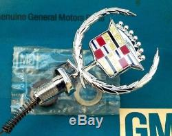 Nos 80 92 Cadillac Fleetwood Brougham New Hood Ornament Emblem Gm Oem