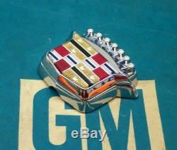 Nos 80 96 Cadillac Trunk Lock Cover Crest Emblem Flip LID Ornament Oem Gm Trim