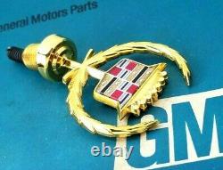Nos 85 88 Cadillac 24k Gold Deville Fleetwood Hood Ornament Emblem Gm