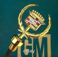 Nos 89 93 Cadillac 24k Gold Hood Ornament 85 88 Deville Fleetwood Vogue Emblem
