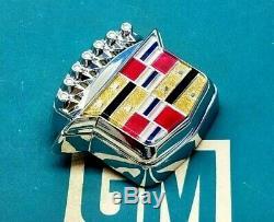 Nos 89 93 Cadillac Deville Fleetwood Trunk Lock Cover Crest Emblem Oem Gm Trim