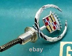 Nos 93 94 95 96 Cadillac Fleetwood Hood Ornament Crest Wreath Emblem Gm Brougham