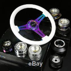 Nrg 121h Hub+black Chrome 2.5 Quick Release+3dish Iridium Steering Wheel White