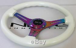 Nrg Short Hub Quick Release Steering Wheel Combo Neo Luminor Honda 94-97 Accord