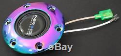 Nrg Short Hub Quick Release Steering Wheel Glow 2.1 Sl Honda Del Sol Eg DX Hx Ex