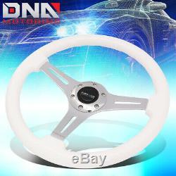 Nrg St-015ch-wt 350mm White Wood Handle Chrome 2deep Dish Spoke Steering Wheel