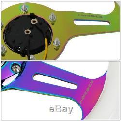 Nrg St-310wt-mc 310mm White Wood Grain Handle Neo Chrome Spoke Steering Wheel