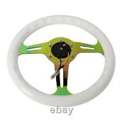 Nrg St-310wt-mc Classic 310mm White Wood Grain Neo Chrome Spoke Steering Wheel
