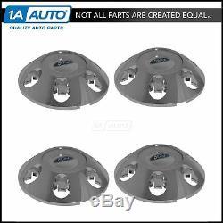 OEM BL3Z1130A 6 Lug Wheel Center Cap Limited Chrome & White Set of 4 for F150