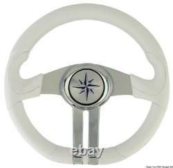 OSCULATI Baltic White Steering Wheel Silver/Chrome Spokes