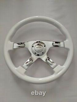 Raptor 15 Chrome White Wood Grain Steering Wheel
