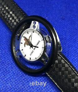 Rare Vintage Ford Mustang Steering Wheel Watch 70s Wind Up Wristwatch