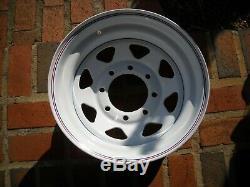 Set of 4- 16.5 X 8.25 Eight Lug White Spoke Wheels Cal Chrome Wheels