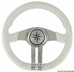 Steering Wheel White Spoke Silver/Chrome Brand Osculati 45.158.31