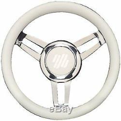U-Flex Steering Wheel Foscari White withChrome Hub FOSCARIVCHW
