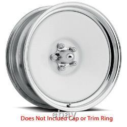 U. S. WHEEL Rat Rod 661 Rim 20X9 5X127 Offset -6 Chrome & White (Quantity of 4)