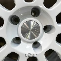 Used 19x10.5 ESR SR01 5x114.3 22 White Machine Lip Chrome Rivets Wheel(1)
