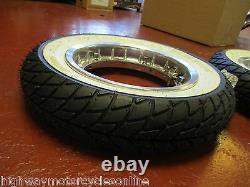 Vespa Px 125 Chrome Tubeless Split Wheel Rim S + White Wall Tyre 350 X 10