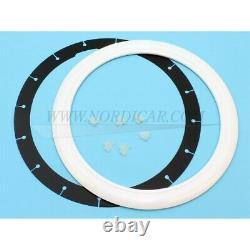 Volvo WF015W Wheel flap 15 white/chrome, set