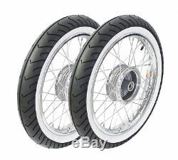 Wheels Pass for simson S51 S50 S53 KR51 schwalbe Star Chrome White Wall Tires