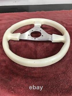 White Chrome 3 Spoke steering wheel 14 # 0111 GT GRANT